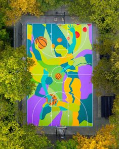 MADSTEEZ transforms harlem basketball court into vibrant street art mural Murals Street Art, Street Art Graffiti, Best Street Art, 3d Street Art, Street Artists, Basketball Park, Street Basketball, Basketball Signs, Basketball Motivation