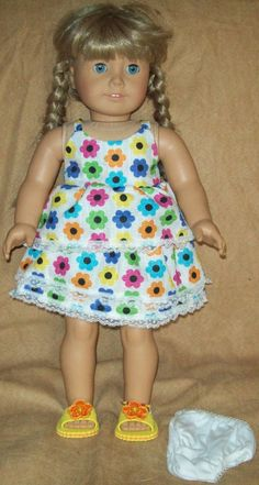 Camisole and skirt with shoes fits American Girl Doll