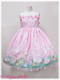 Angelic Pretty / Jumper Skirt / Happy Garden High Waist JSK