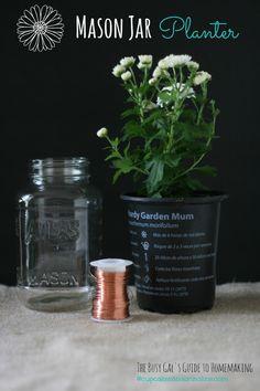 DIY it: A Mason Jar Planter - #masonjar #craft