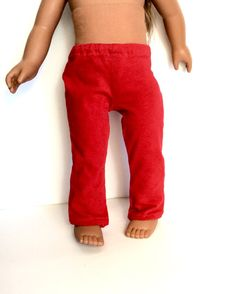 18 Inch Doll Red Leggings Girl Doll Clothes by DonnaDesigned
