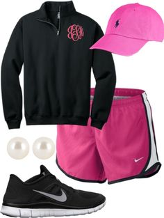 Monogram quarter zip athletic fashion, cute gym outfits и at Cute Athletic Outfits, Cute Gym Outfits, Athletic Wear, Summer Outfits, Fall Outfits, Adrette Outfits, Sporty Outfits, Preppy Mode, Preppy Style