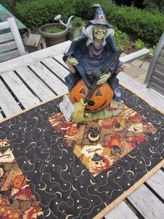 Prim Halloween Quilted Table Runner. $42.00, via Etsy.