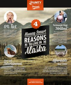 4 Money Smart Reasons To Live In Alaska Real Estate! Check out our latest #infographic to find out why so many financially savvy people just love #Alaska #realestate.
