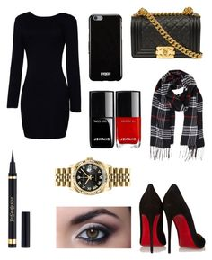 """Untitled #244"" by newyorkgirl2016 ❤ liked on Polyvore featuring Christian Louboutin, Humble Chic, Givenchy and Rolex"