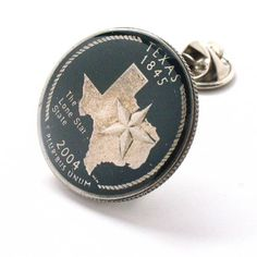 Texas Tie Tack Lapel Pin Suit Flag State Coin Jewelry USA