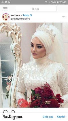 Setr-i Nur 0 850 466 19 76 # tesettürgelinbaşı … – Jena Downs Hijabi Wedding, Muslimah Wedding Dress, Muslim Wedding Dresses, Muslim Brides, Wedding Gowns, Muslim Couples, Bridal Hijab Styles, Modele Hijab, Bridal Outfits