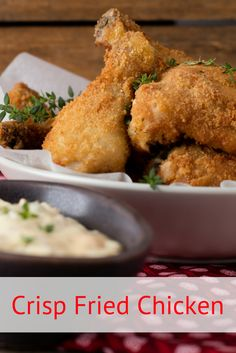 Succulent and crispy, this is an all-time favourite fried chicken recipe complete with chakalaka mayonnaise. Easy Pasta Recipes, Meat Recipes, Crockpot Recipes, Dinner Recipes, Cooking Recipes, Crispy Fried Chicken, Fried Chicken Recipes, South African Recipes, Ethnic Recipes