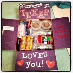 Someone in Texas loves you! Deployment Care Package