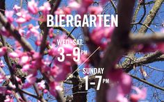 Biergarten, 3-9pm Wed-Sat, Sunday 1-7pm. 424 Octabia, between Fell and Linden in Hayes Valley, San Francisco.