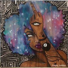 Pin on Divine Goddess Black Art Painting, Black Artwork, Black Love Art, Black Girl Art, African American Art, African Art, Pintura Hippie, Arte Black, Art Et Design