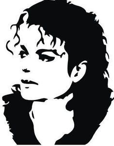 Michael Jackson Dibujo, Art Michael Jackson, Michael Jackson Silhouette, Michael Jackson Drawings, Stencil Graffiti, Stencil Art, Graffiti Art, Drawing Stencils, Portraits Pop Art