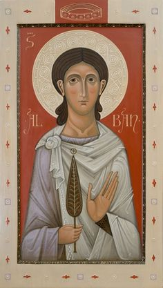 Commission Icon of saint Alban the first martyr of England. 2016 Olga Shalamova