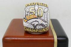 Super Bowl 50 Denver Broncos Championship Ring
