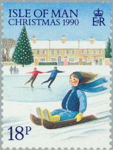 Isle of Man Christmas stamp, 1990