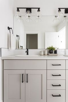 Home Interior Company .Home Interior Company Grey Bathroom Cabinets, Light Gray Cabinets, Bathroom Renos, Remodel Bathroom, Cosy Bathroom, Grey Bathroom Vanity, Ikea Bathroom, Bathroom Fixtures, Bathroom Furniture