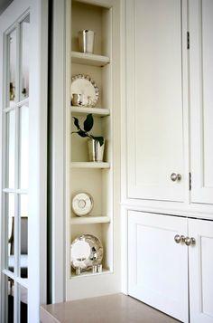 Sage Design - kitchens - vertical, built-in, nook, kitchen niche,  Vertical built-in kitchen niche.