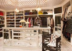 Bruce and Kris Jenner's Home - Kris' closet