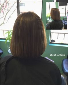 The #Perfect   #BRONDE   #BOB   ,the ideal #Combination   of #Blonde  and #Brunette   #HairColor  ,  on a #ClassicBob  The #Hottest   #trends  this #summer  . #BabyLights  on #LightBrunette   #ClassicBob  .Give Antonio a Call and Let Us #Brighten  your #Hair and your #Look  for the #summer  .(510)367-9360 #wednesdaywisdom   #wednesday