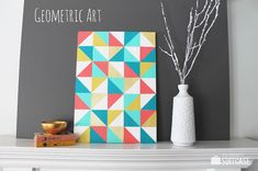 My Sister's Suitcase: Geometric Art {that anyone can make}