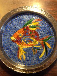 Mosaic Fish Platter Work in progress