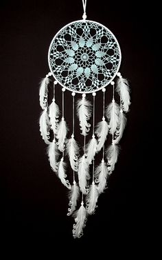 Hey, I found this really awesome Etsy listing at https://www.etsy.com/listing/386868562/large-light-blue-white-dream-catcher