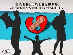Anxious Toddlers has designed this divorce workbook for children ages 4-12. This workbook is chock-full - with 24 exercises to help children process divorce. Each exercise comes complete with the: 1) purpose of the activity 2) simple directions to give the child and 3) possible follow-up questions to ask.