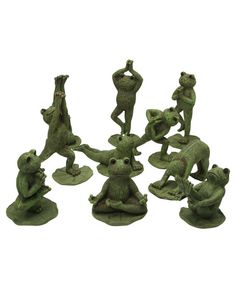 Adorable yoga frogs great for gardens! Set of 10- available at BuddhaGroove.com.