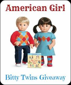 One lucky winner will receive an American Girl Bitty Twins + Book Set! Giveaway ends May 13th at 11:59pm, open to US and Canadian residents, ages 18+
