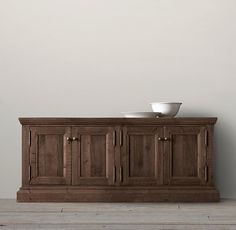 Salvaged wood sideboard - salvage brown - restoration hardware - dining room