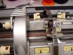 Fine gauge V-bed knitting
