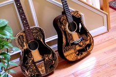 Sharpie Decorated Guitars. Love!