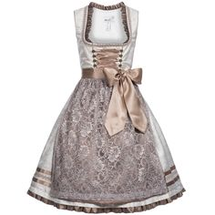 Midi Dirndl Rosina in Beige by Marjo costumes, size: 34; color: Beige