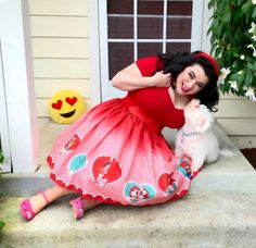 Pinup & Curvy Girl Style with a Retro Twist - Part 3 Valentine's Day Outfit, Outfit Of The Day, Curvy Girl Fashion, Bichon Frise, Novelty Print, Curvy Outfits, Vintage Valentines, Pin Up Style, Vintage Black