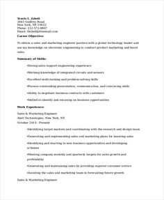 sales marketing engineer resume marketing resume samples for successful job hunters it is an - Product Marketing Engineer Sample Resume