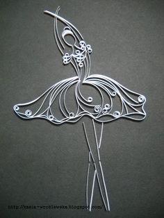 Quilled ballerina.
