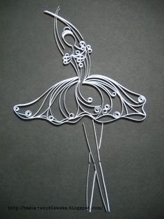 Ballerina by Катя-Kate    Check out her blog. She does beautiful Quilling art. I almost want to learn this craft.