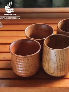 Japanese Style Wooden Tea Cup (Set of Japanese Tea Cups, Tea Cup Set, Cupping Set, House In The Woods, Japanese Style, Wood Turning, Drinking Tea, Tea Pots, Woodworking