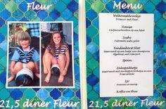 Dit waren de menukaarten. Aan de ene kant de naam van de genodigde en aan de andere kant het menu. Gelamineerd en wel! Leuke herinnering :) #menukaart #menu #persoonlijk #diner #aankleding #aandenken