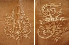 embroidery letters made of silk thread