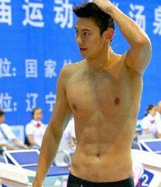 寧澤濤四金牌泳手Ning Zetao~Aquatics Championships 4 Gold medalists in swimming. 1993, 191cm, 81Kgs. CHINA.