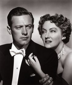 """A young William Holden and Gloria Swanson in """"Sunset Boulevard (1950)"""