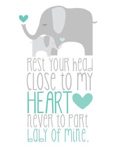 INSTANT DOWNLOAD Elephant Baby of Mine Nursery by DarlingDigitals. from Dumbo