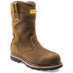 The Buckler Safety Rigger Boot is waterproof and features Goodyear Welted SB P HRO SRC protection. If you're looking for a hard wearing, long lasting, premium quality safety work boot, look no further than Buckler Boots. Mens Boots Fashion, Big Men Fashion, Fashion Shoes, Pull On Work Boots, Safety Work Boots, Rigger Boots, Dress With Boots, Hot Shoes, Sport