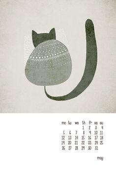 A calendar for cat lovers.