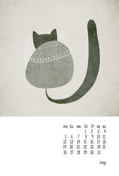 A calendar for cat lovers.