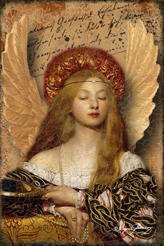 """Bronze Angel Digital Collage"" (Copyright 2014), By Ingrid Pômeroy, Digital Art, Based on the artwork: ""Vanity"", (1907) By Frank Cadogan Cowper (1877-1958), Oil on Canvas, Royal Academy of Arts, London, United Kingdom.  #angels"