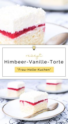 Himbeer-Vanille-Torte (Frau Holle Kuchen) Recipe for raspberry-vanilla cake (Frau Holle Kuchen) Easy Smoothie Recipes, Easy Cake Recipes, Cupcake Recipes, Cookie Recipes, Snack Recipes, Dessert Recipes, Baking Recipes, Coconut Recipes, Pumpkin Spice Cupcakes