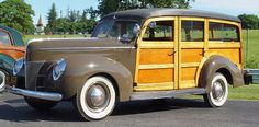 My ride, 1940 Ford #Woody station wagon.