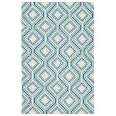 Kaleen Escape Blue Indoor/Outdoor Area Rug | AllModern